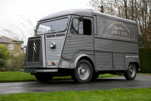 Saville's Hand Crafted Dovecotes Delivery Van