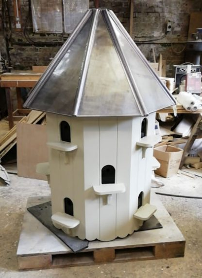 Lead Roof Richmond Dovecote being hand built in our workshop